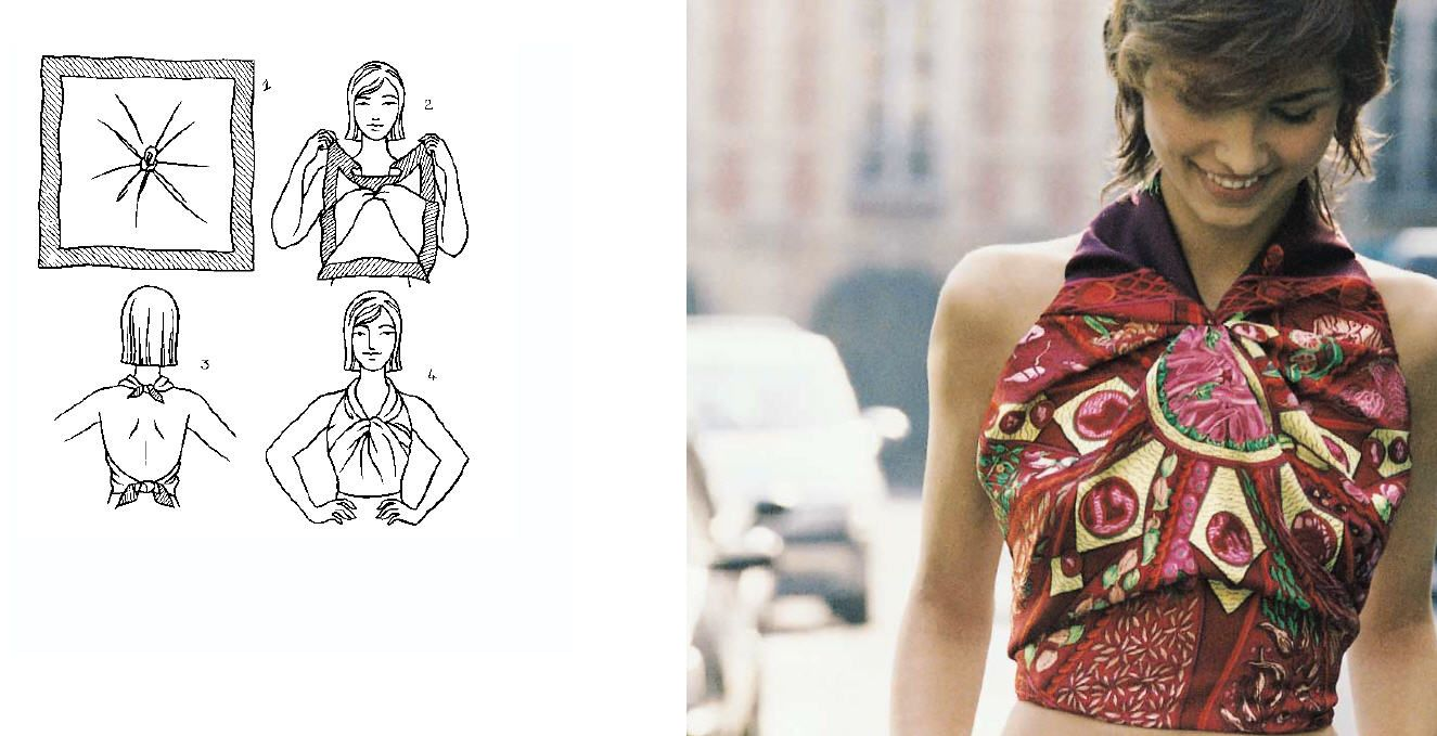 How to hermes wear scarf as shirt images
