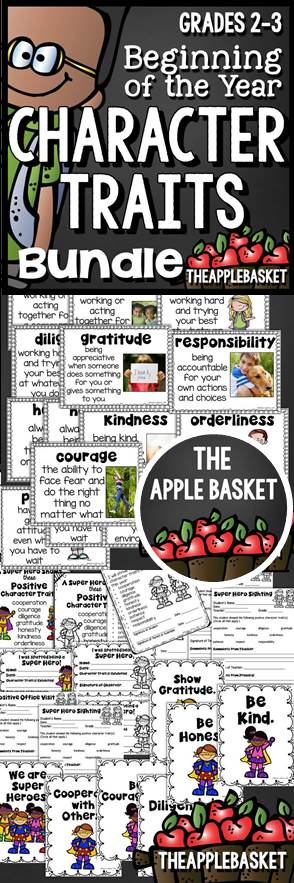 Beginning of the Year Character Traits Bundle Character trait - positive character traits