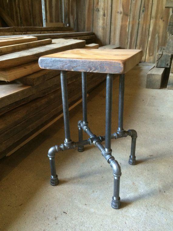5 o/'clock Bar Stool Reclaimed Wood Stool Seat Chair Reclaimed Wood Barstool