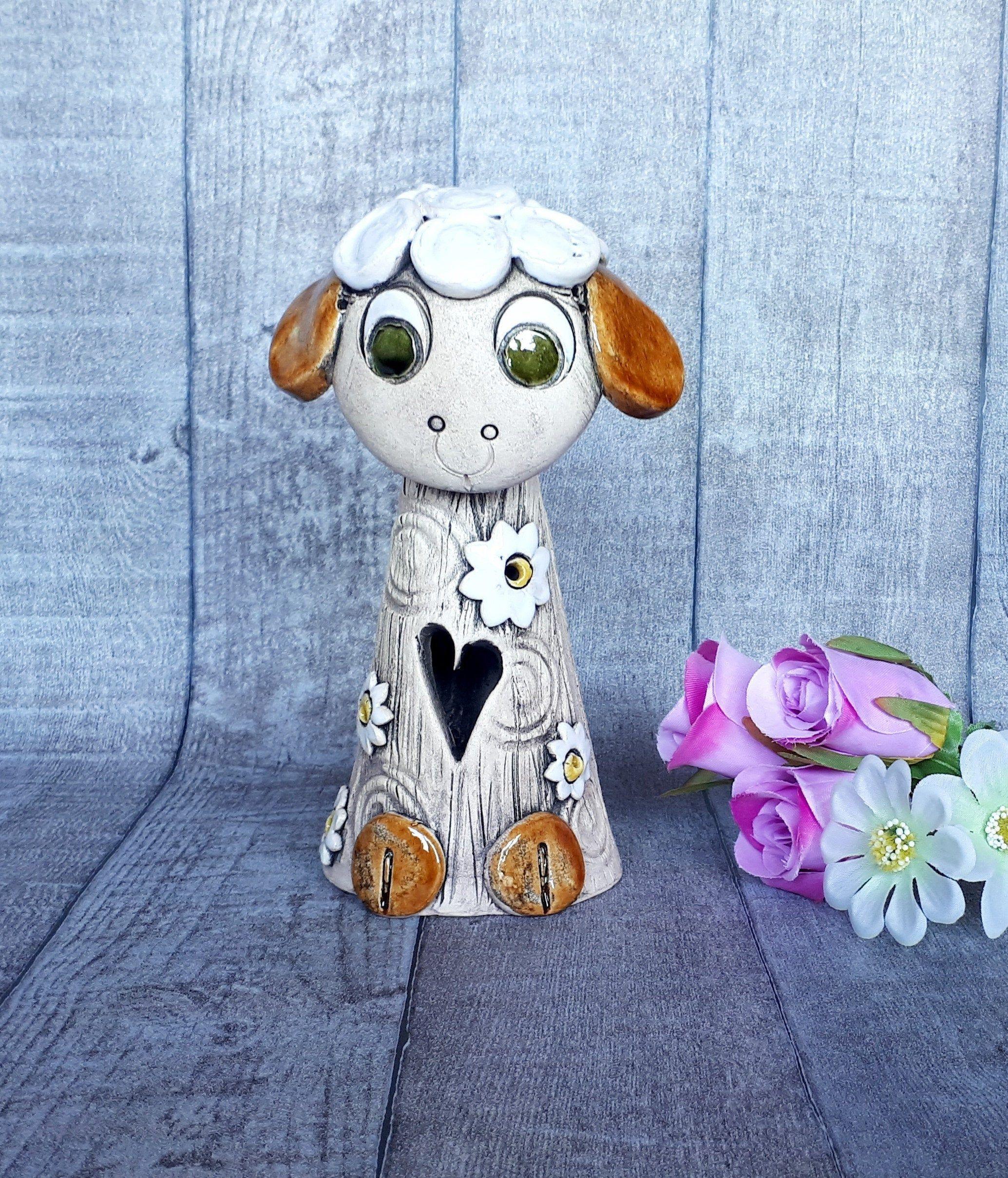 Schaf Baby Gartendeko Keramik Figur Topferarbeiten Schafe Keramik