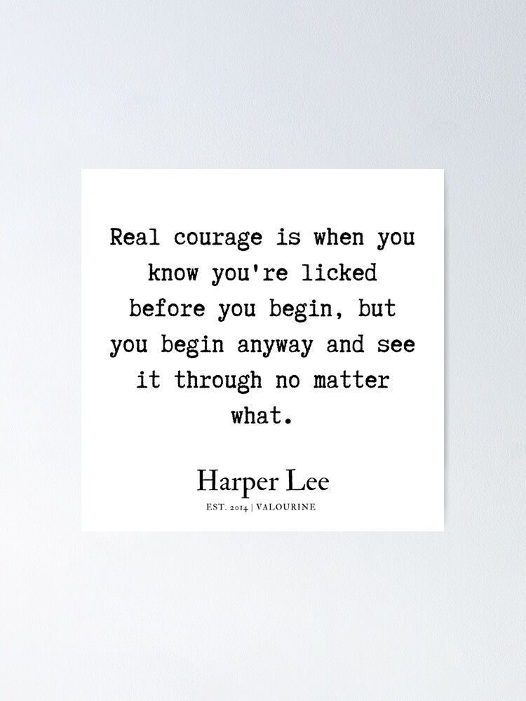 12 | Harper Lee Quotes | 190909 Poster by QuotesGalore