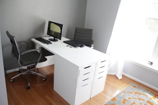 Ikea Minimalist Two Person Desk Ikea Hackers Home Office Design Two Person Desk Best Home Office Desk
