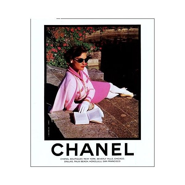 Fashion Flashback Vintage Chanel Ads found on Polyvore