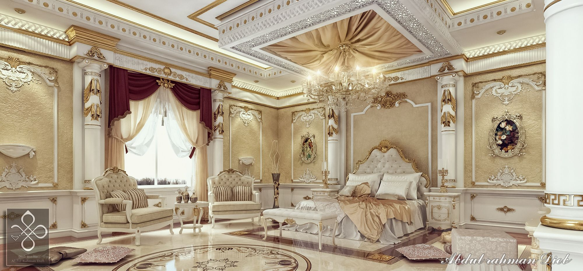Royal bedroom 3d interiors pinterest royal bedroom for Bedroom designs royal