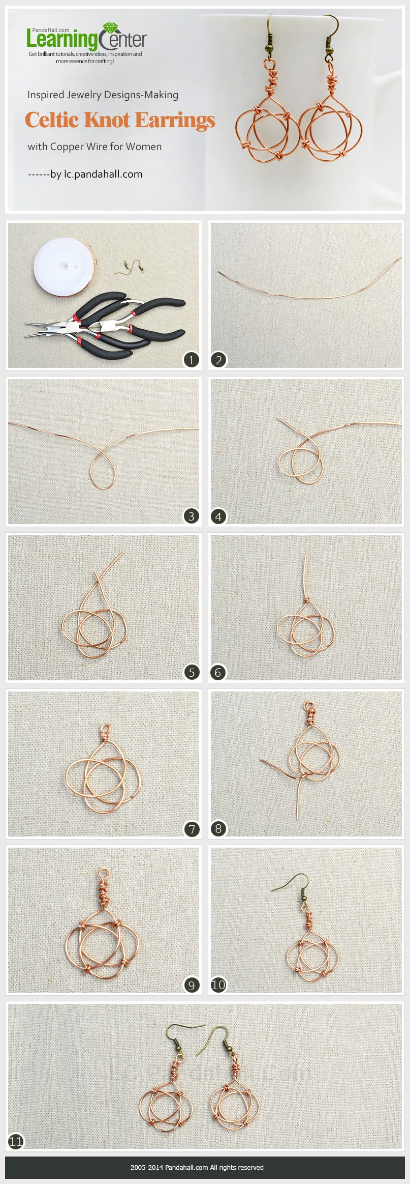 Inspired Jewelry Designs- Making Celtic Knot Earrings with Copper ...