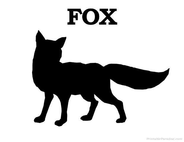 Print Free Fox Silhouette