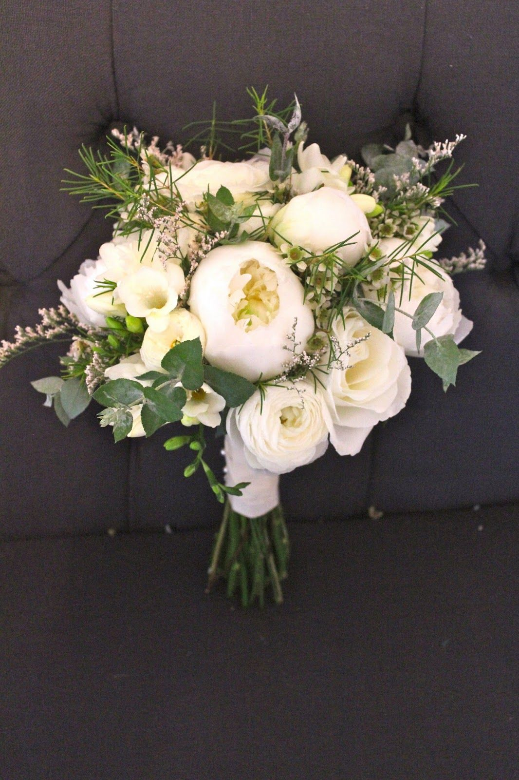 Messy Peonies Ranunculus Roses Wax Flower Freesia Wax Flowers Floral Floral Design