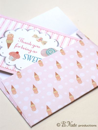 Print your own envelope- Sweet Treats sample made using digital - Sample 5x7 Envelope Template