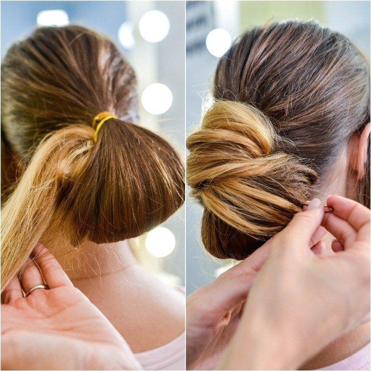 How To Make A Chic Chignon In 6 Easy Steps Easy Chignon Chignon Hair Bun Hairstyles