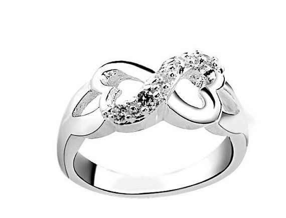 Infinity Love Ring Sterling Silver by shopkateshop on Etsy