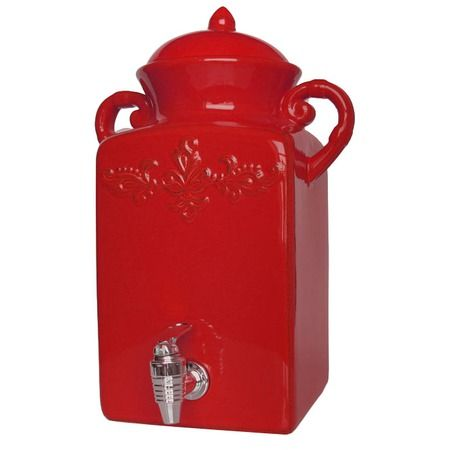 I pinned this American Atelier Golden Glow Square Beverage Dispenser in Red from the Waverly Dinnerware event at Joss and Main!