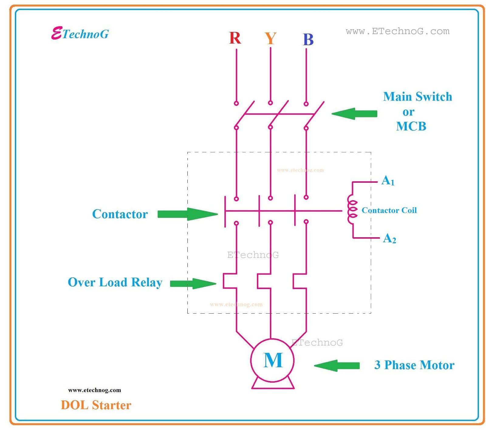 Three Phase Motor Control Circuit Diagram