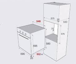 Resultado de imagen para medida de horno empotrado for Medidas de hornos electricos