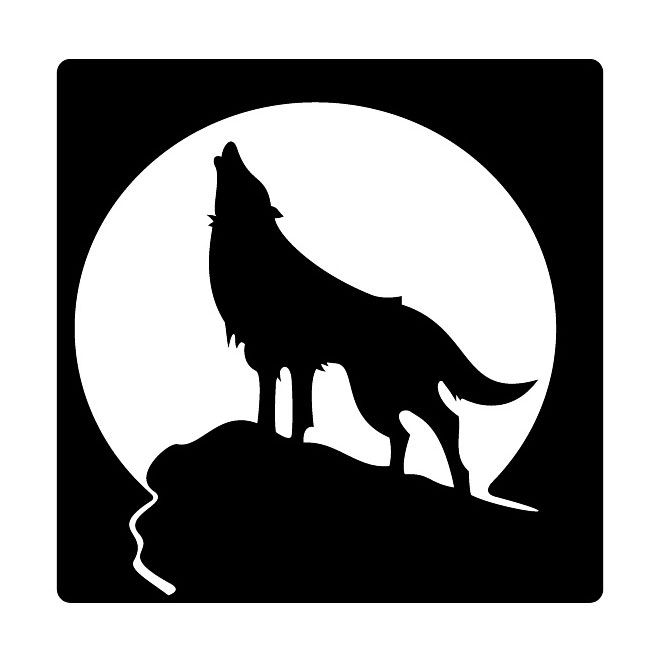 Howling Wolf Free Vector Free Vectors Wolf Painting