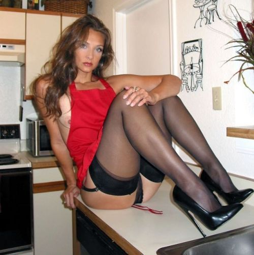 Milf high heels and straight