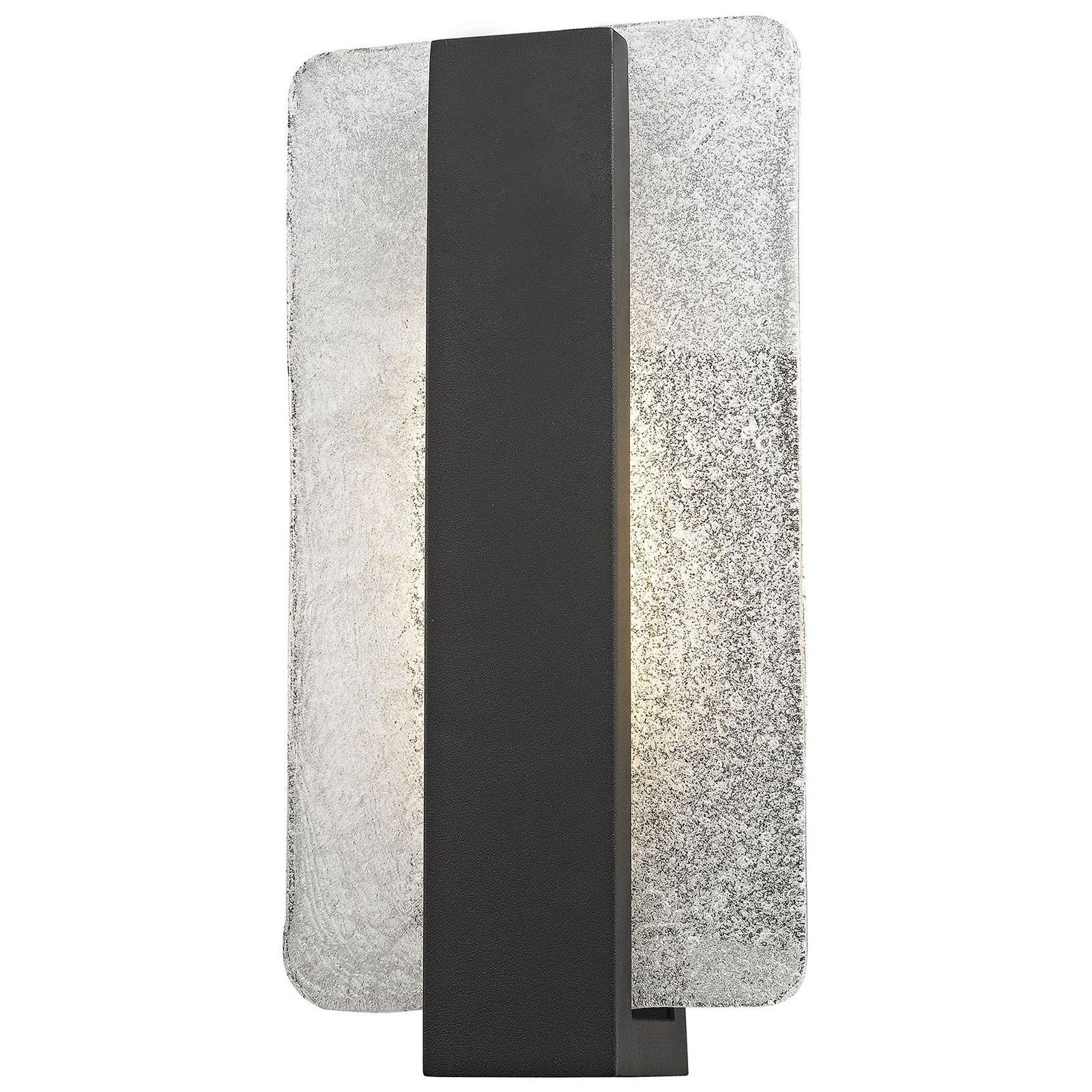 Pierre led outdoor wall sconce with textured matte black wall