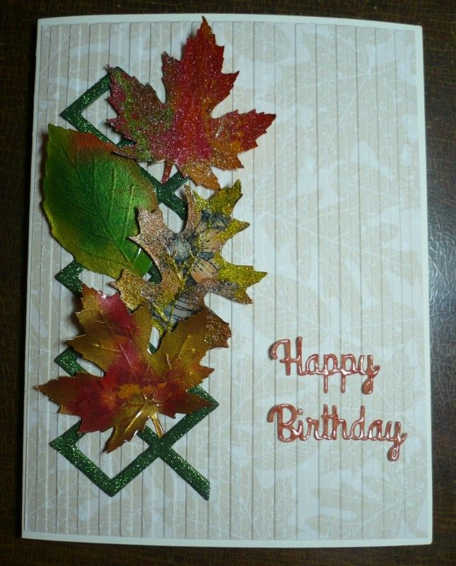 TSC1002 First Fall Leaves by 905lovestostamp - Cards and Paper Crafts at Splitcoaststampers