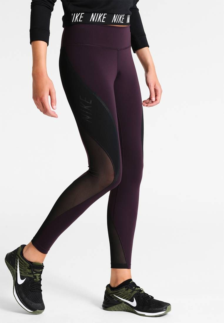8f130316cb58a Nike Performance. POWER LEGEND - Tights - port wine/black/white. Outer