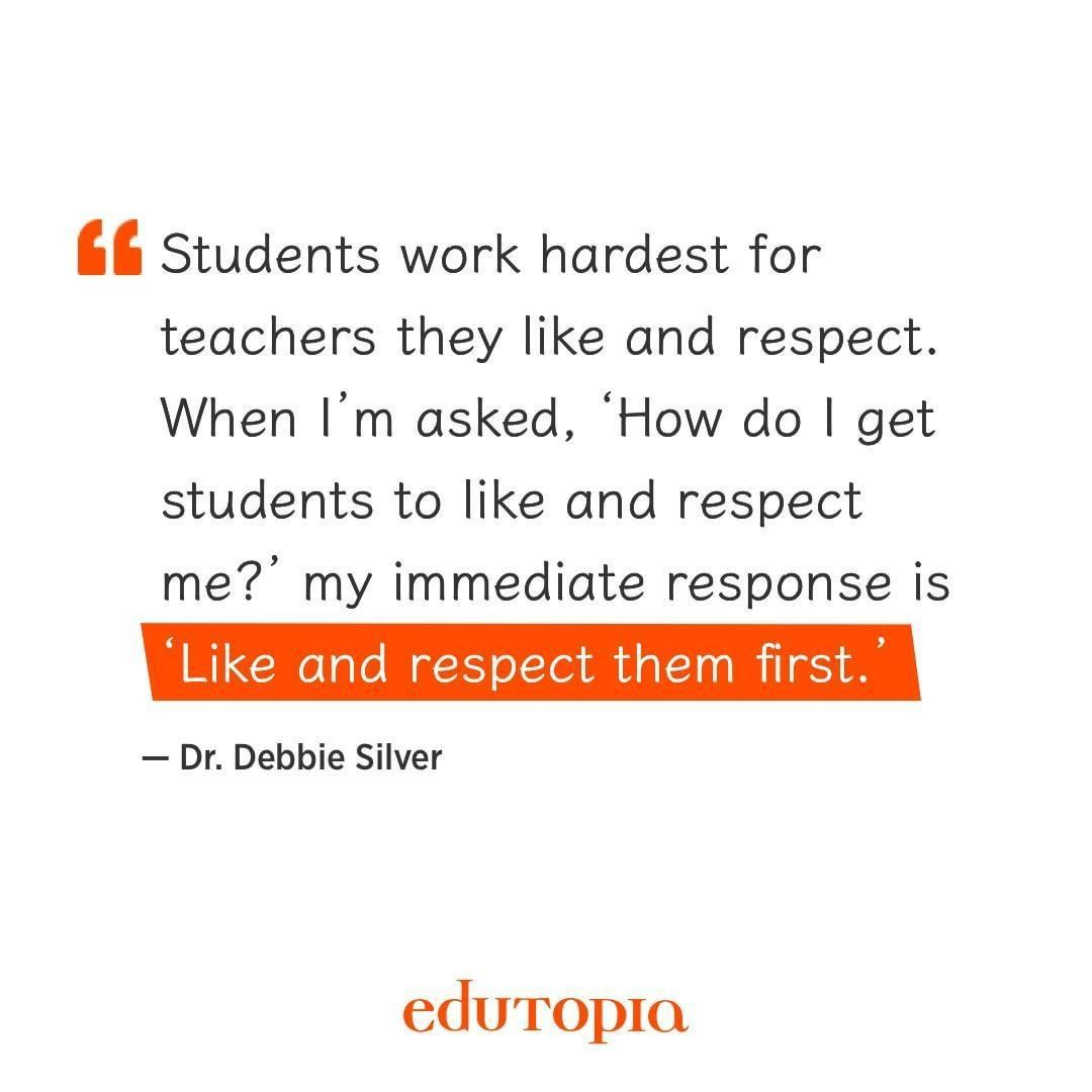 Edutopia On Instagram Respect Is A Two Way Street