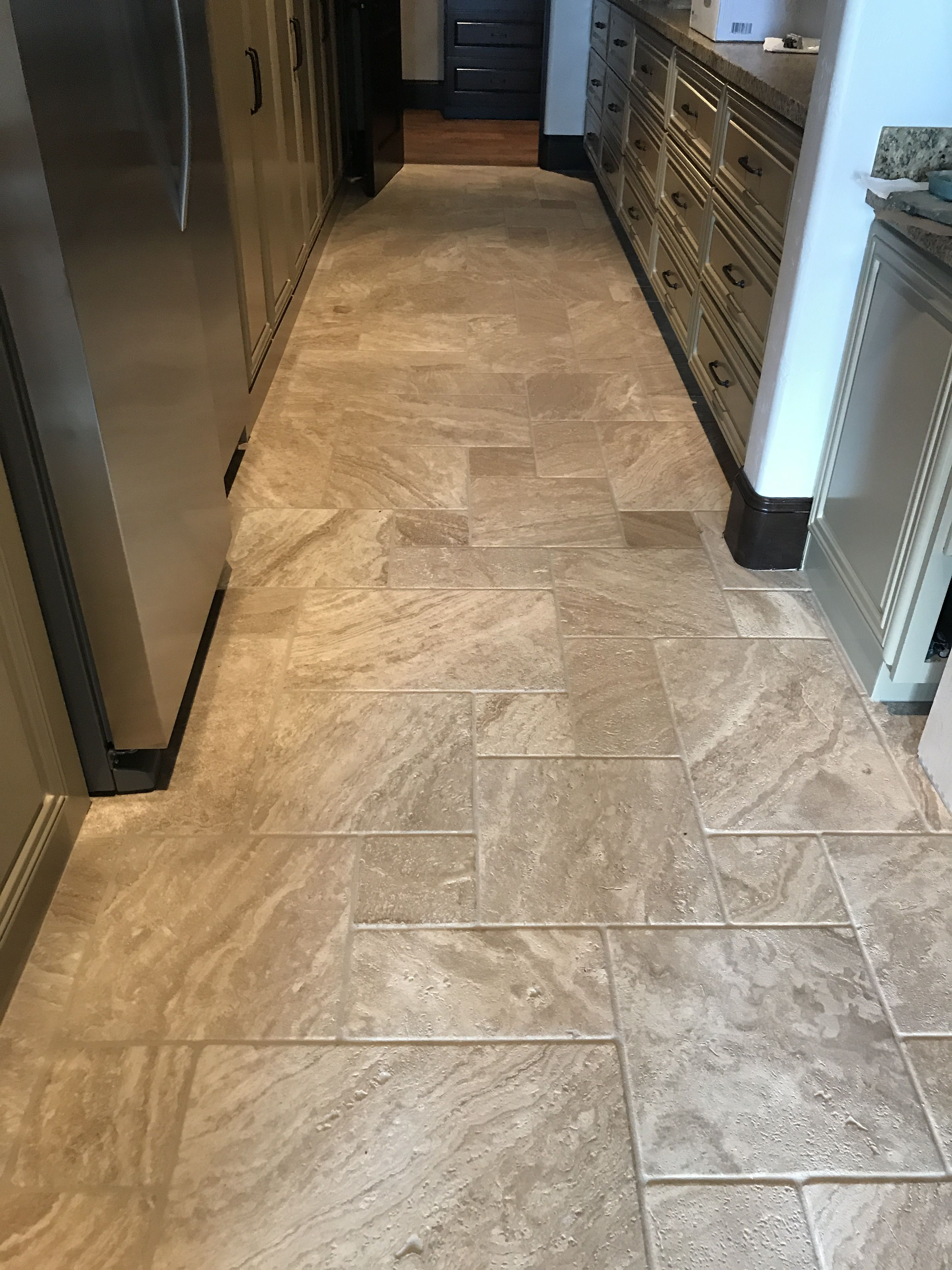 Travertine Laid In A Versailles Pattern Is Always A