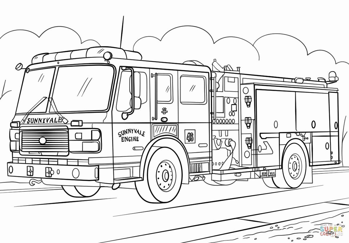 Free Fire Truck Coloring Page Best Of Coloring Truck To Color Fire For Kids Monster And Gambar Anak Trailer