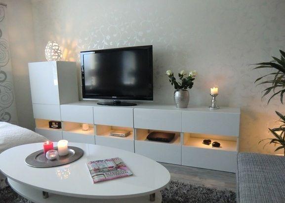 album 4 banc tv besta ikea r alisations clients s rie 1 mur tv pinterest meuble tv. Black Bedroom Furniture Sets. Home Design Ideas