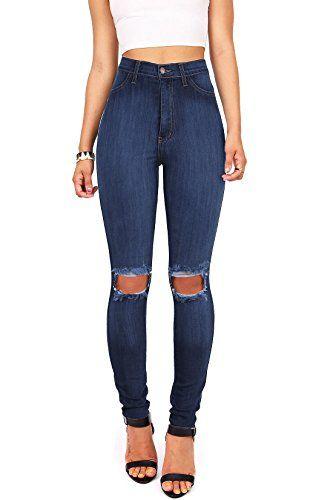 Vibrant Women S Juniors Faded Ripped Knee High Waist Skinny Jeans 3 Dark Denim Light Wash Faded High Waist Skinny J Ropa Juvenil De Moda Jeans De Moda Ropa