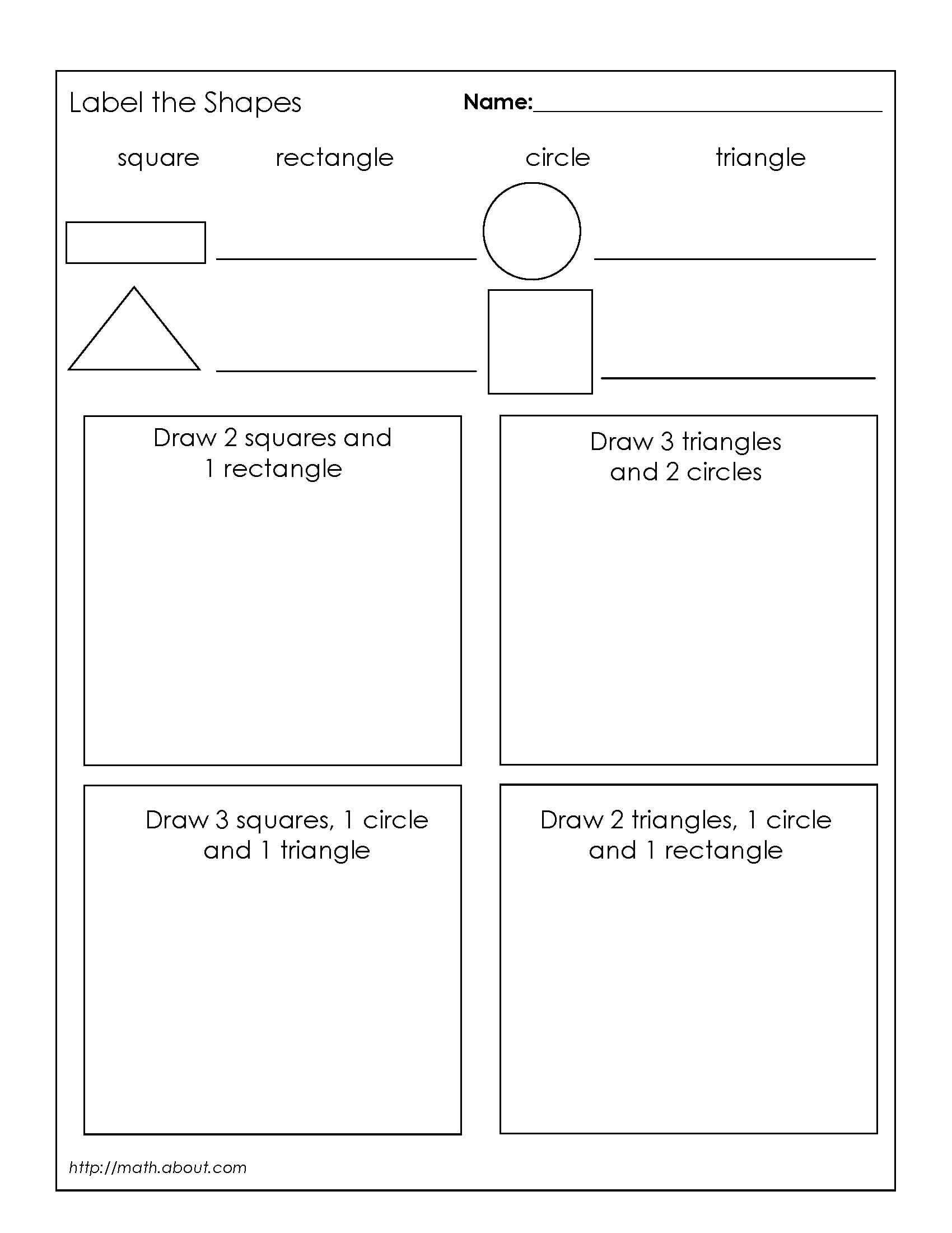 1st Grade Geometry Worksheets for Students | Pinterest