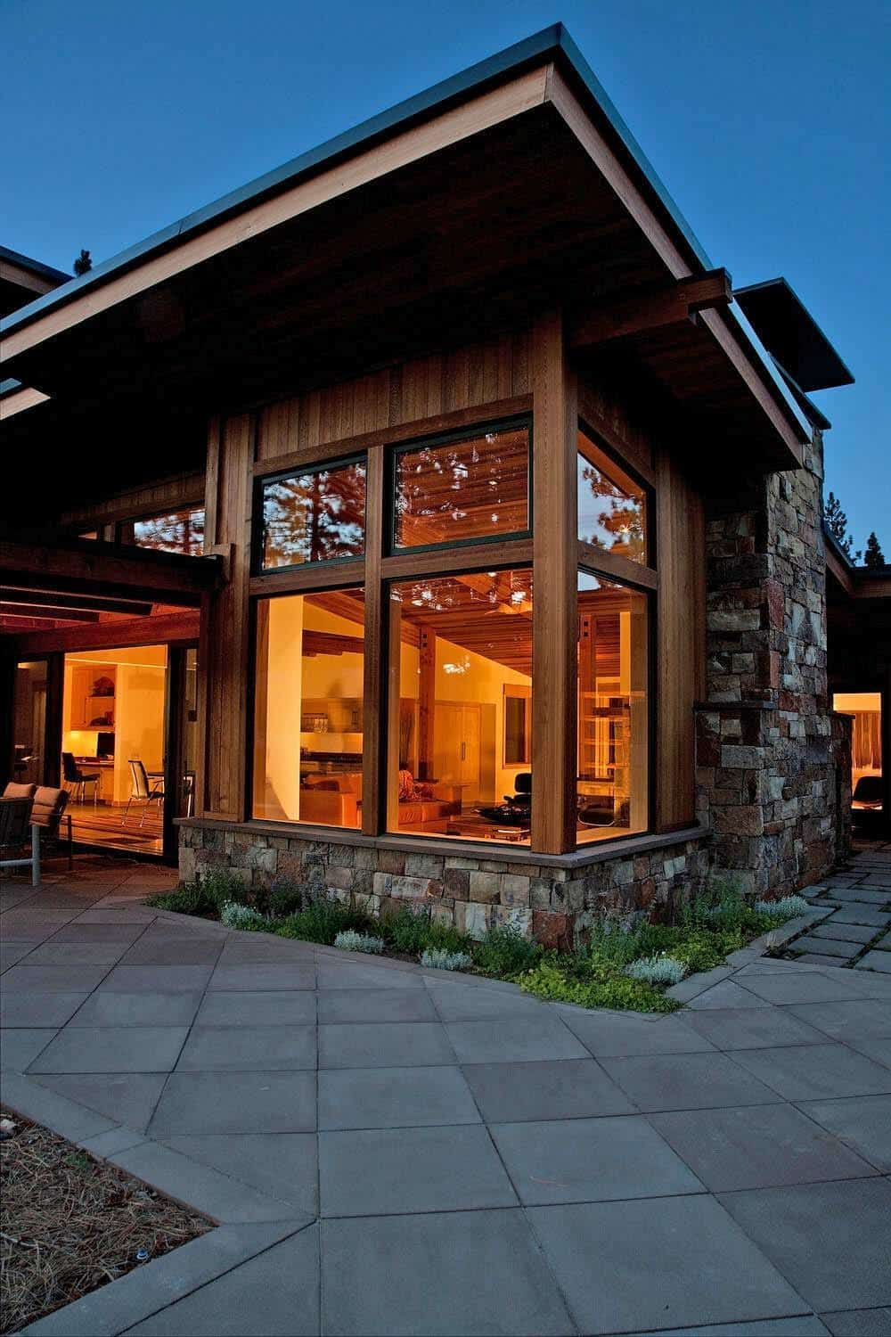 Stunning rustic mid-century inspired home in the Sierra ...