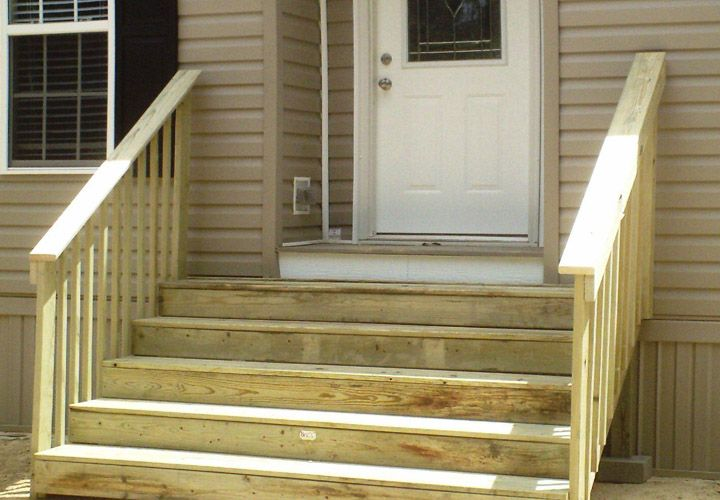 Steps For Mobile Homes Outdoor Mobile Homes Ideas Mobile Home | Wood Mobile Home Steps | Double Wide | Pressure Treated | Temporary | Wood Camper | Stained Wood