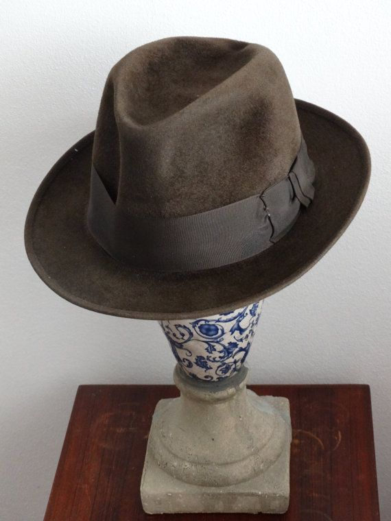 5b10110e964 Vintage Mens Hat    Fedora Moores Made in London by LesTempsPerdus