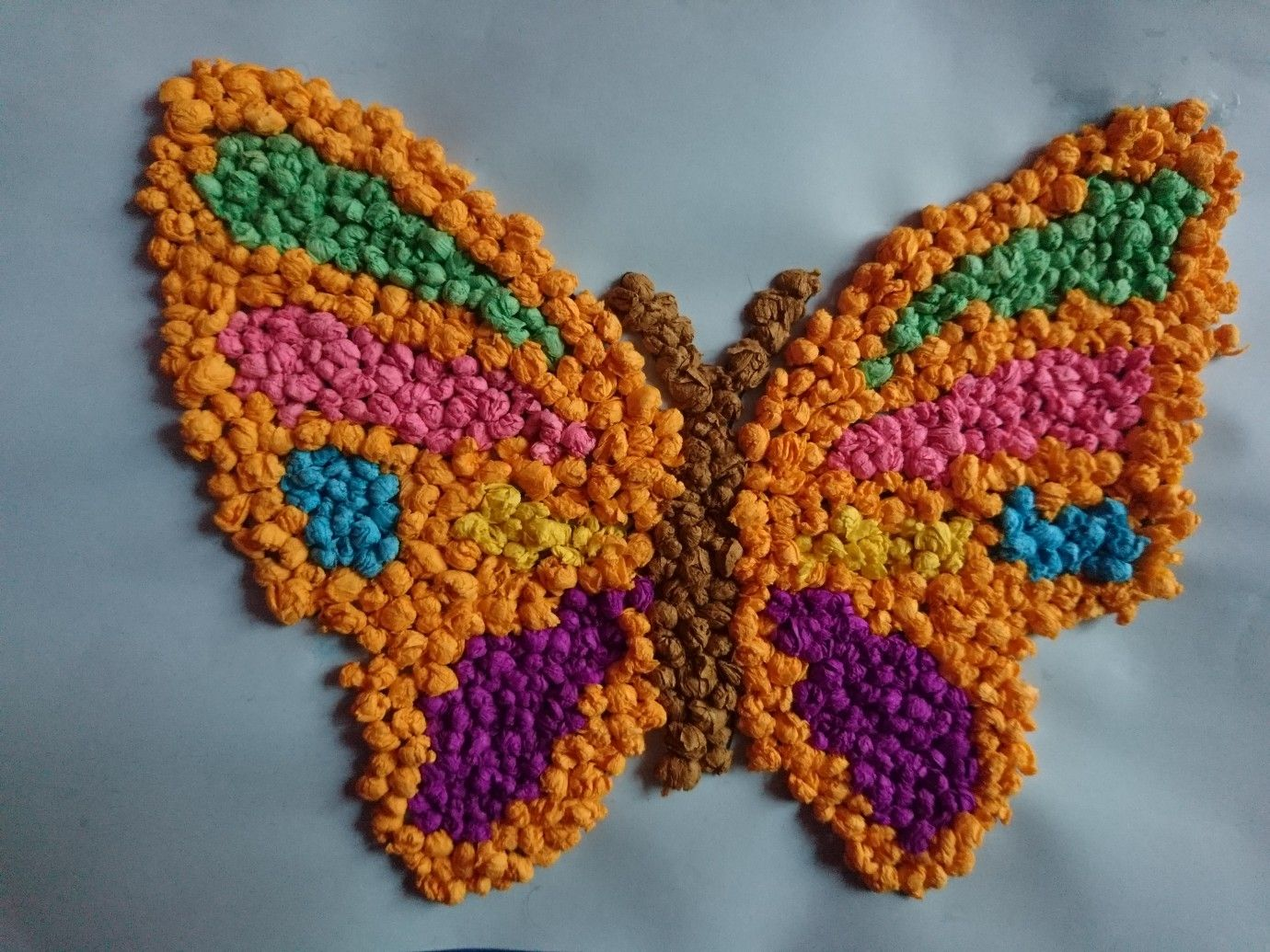 Butterfly motyl z bibuły art activities for kids | Motyle