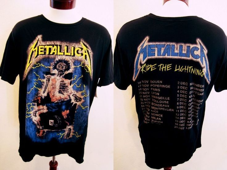 b77237be0 Metallica T-Shirt Ride The Lightning Embroidered Concert Official ...