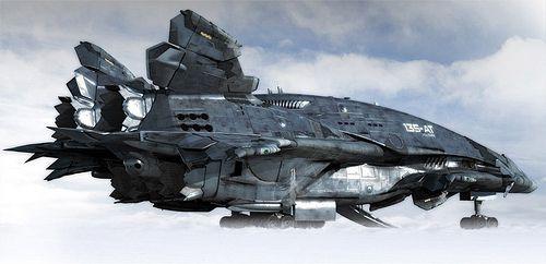 Sci Fi Dropship Art