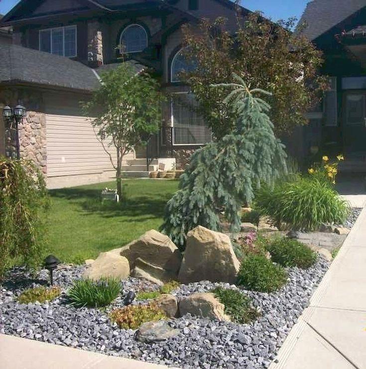 Simple Front Yard Design Ideas: Beautiful & Simple Front Yard Landscaping Design Ideas (22