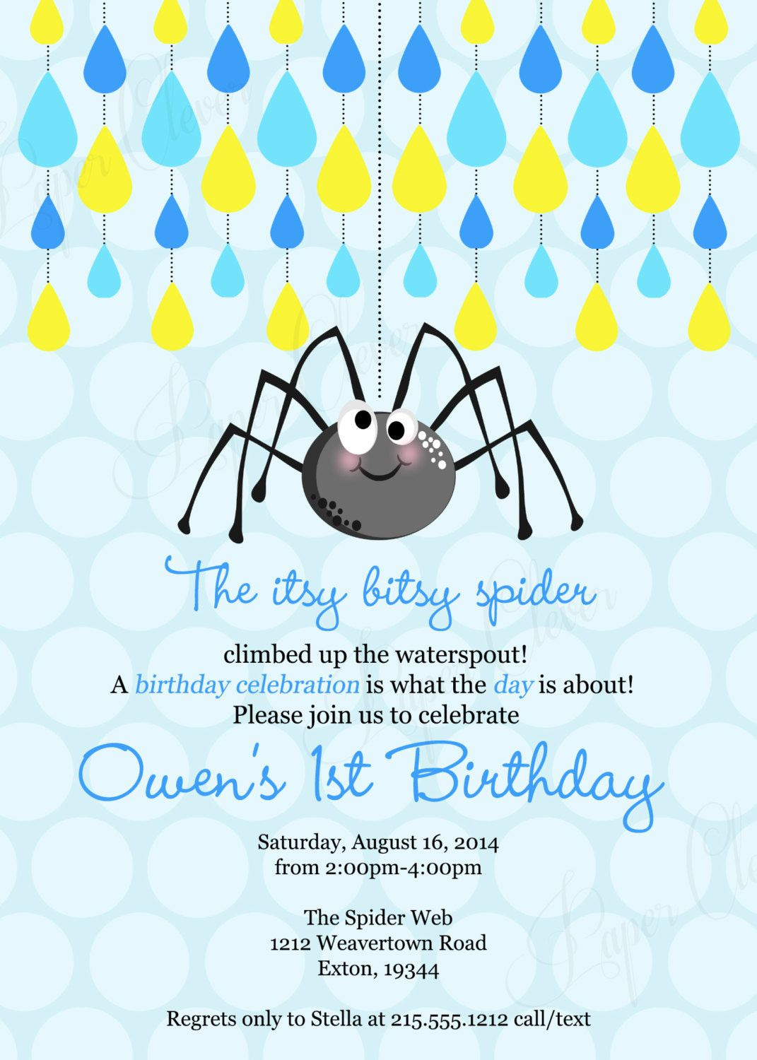 Back to school sale Birthday invitation Itsy bitsy by paperclever ...
