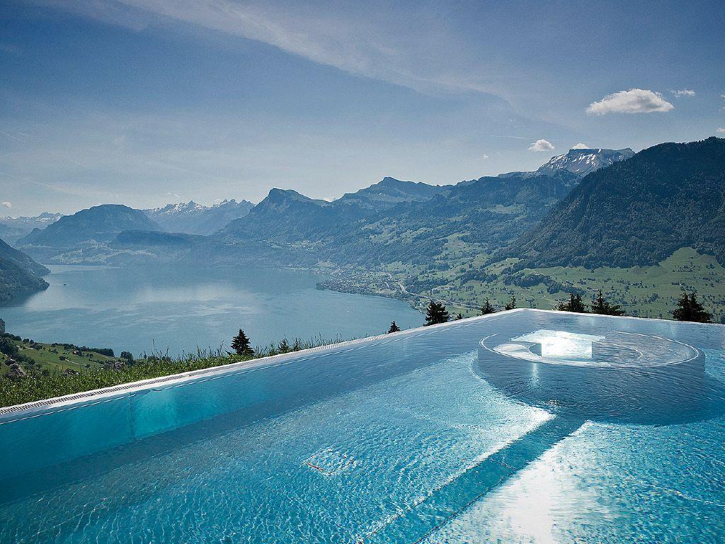 Villa honegg ennetb rgen suisse piscine panorama for Hotel avec piscine vosges