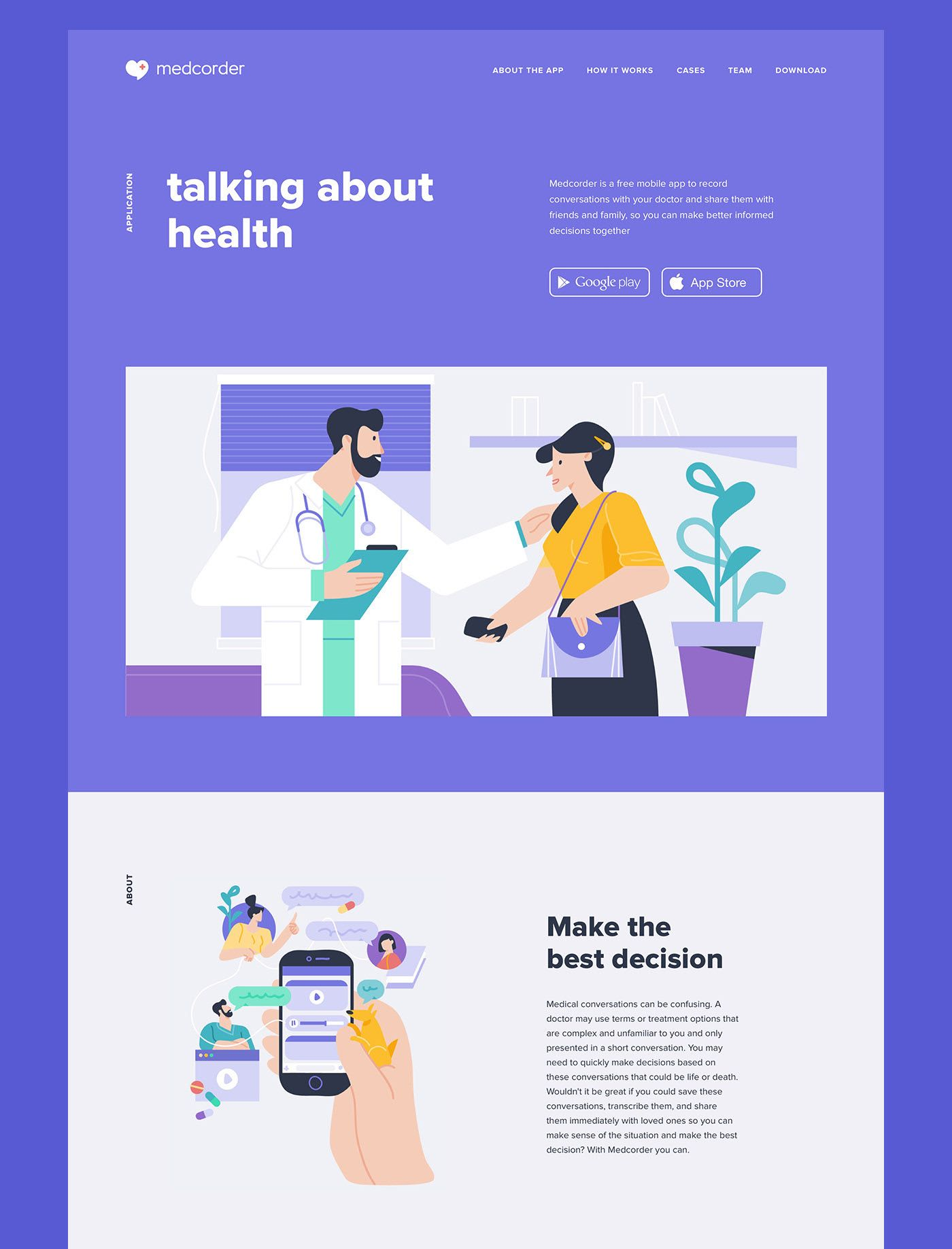 Medcorder mobile app on Behance Mobile app, Health app, App