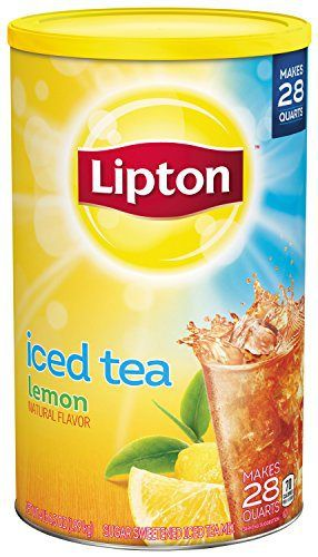 Lipton Iced Tea Mix Lemon Sweetened 28 Qt Pack Of 2 Lipton Ice Tea Iced Tea Mix Iced Tea