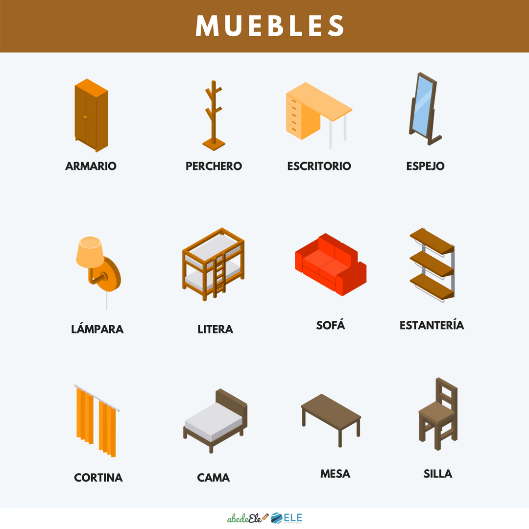 Spanish Furniture Vocabulary Worksheet