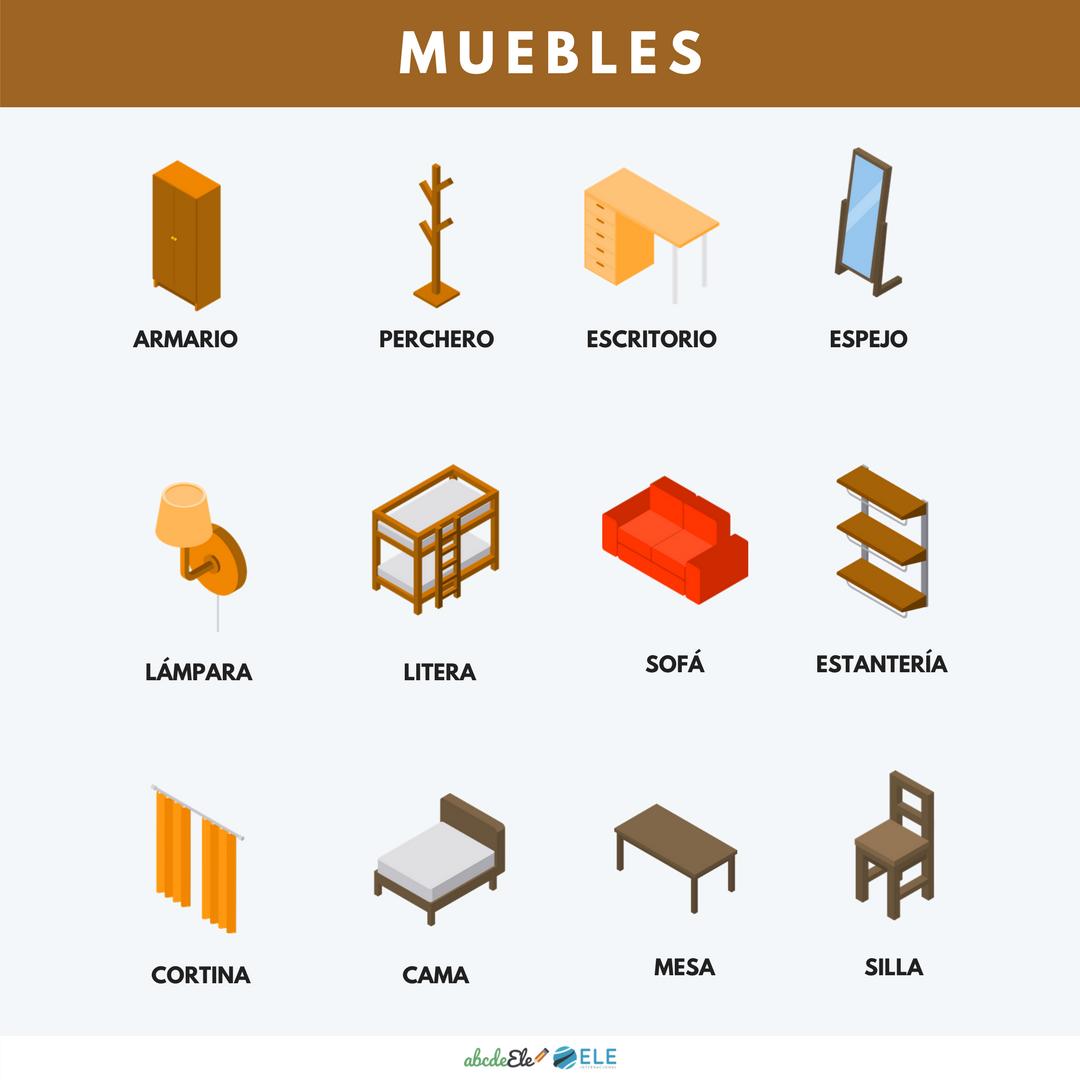 Posteres Vocabulario Clase De Ele Vocabulario Muebles Ele