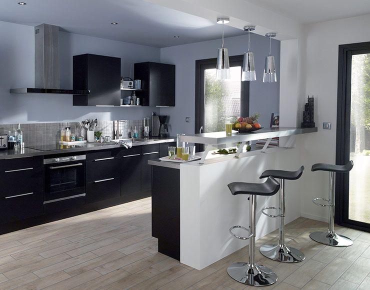 meuble de cuisine ice noir meuble