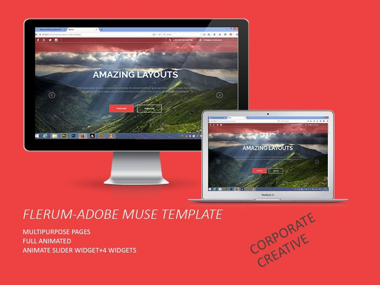 flerum adobe muse template muse templates and my music pinterest