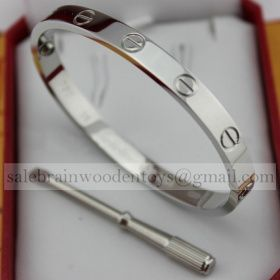 0b5e3d95fb624 Replica Knockoff Cartier Love Bracelet White Gold stainless steel 5th
