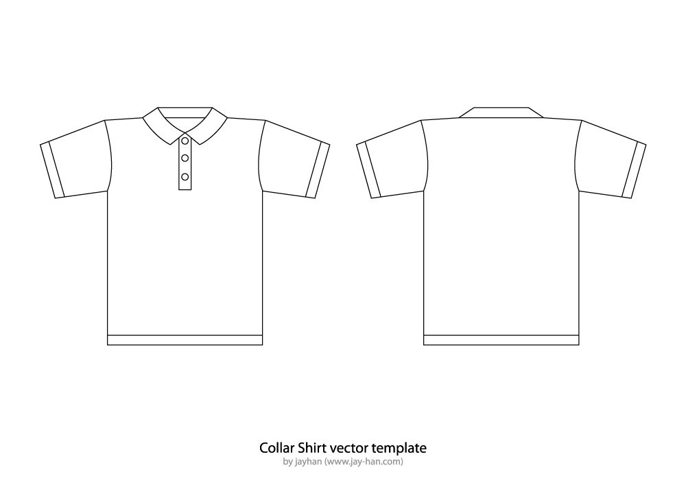 TShirt Templates  Collar TShirt Or Polo Shirt Template