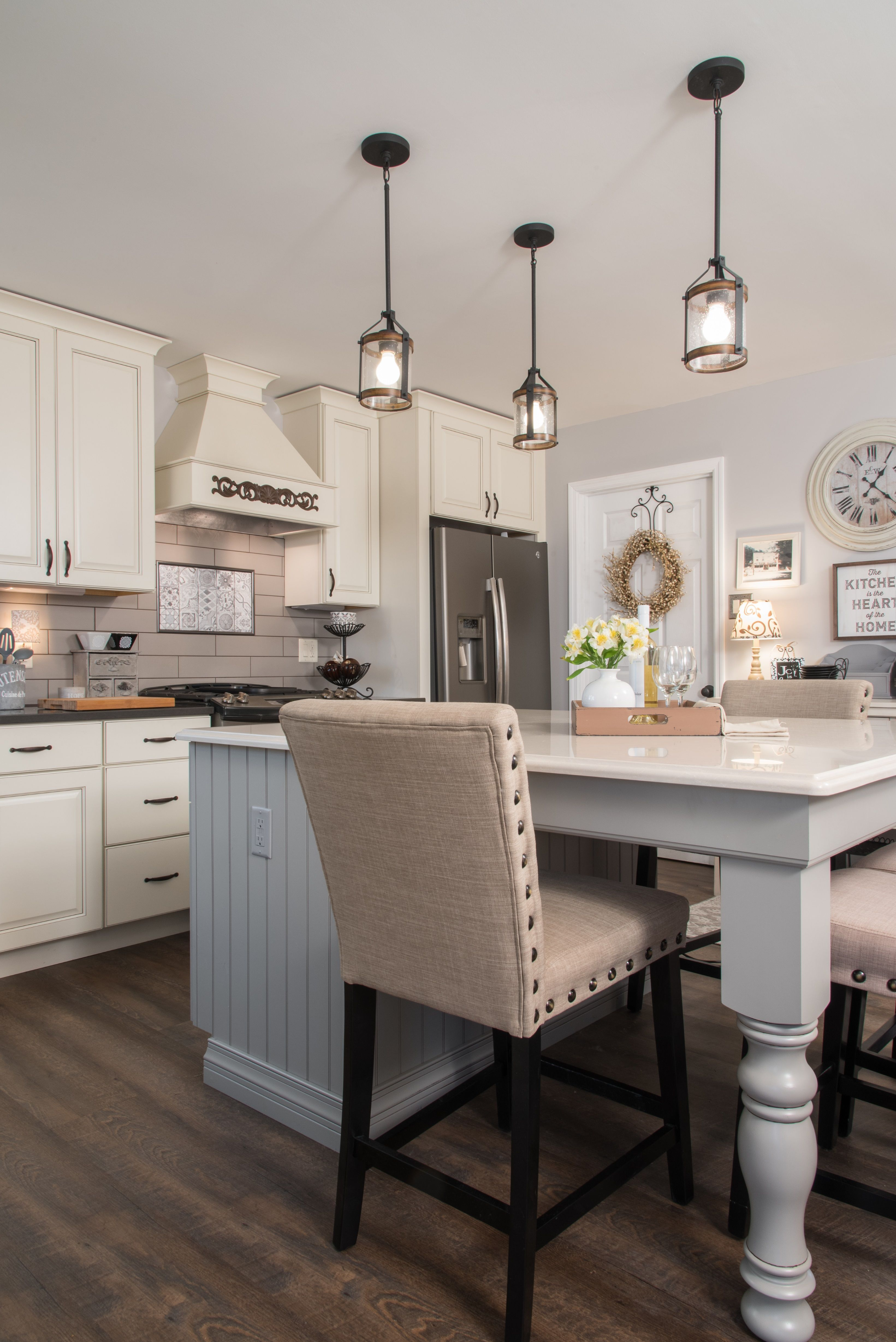 Neutral kitchens are so in the mcfarland kitchen from designer lisa clark will give you