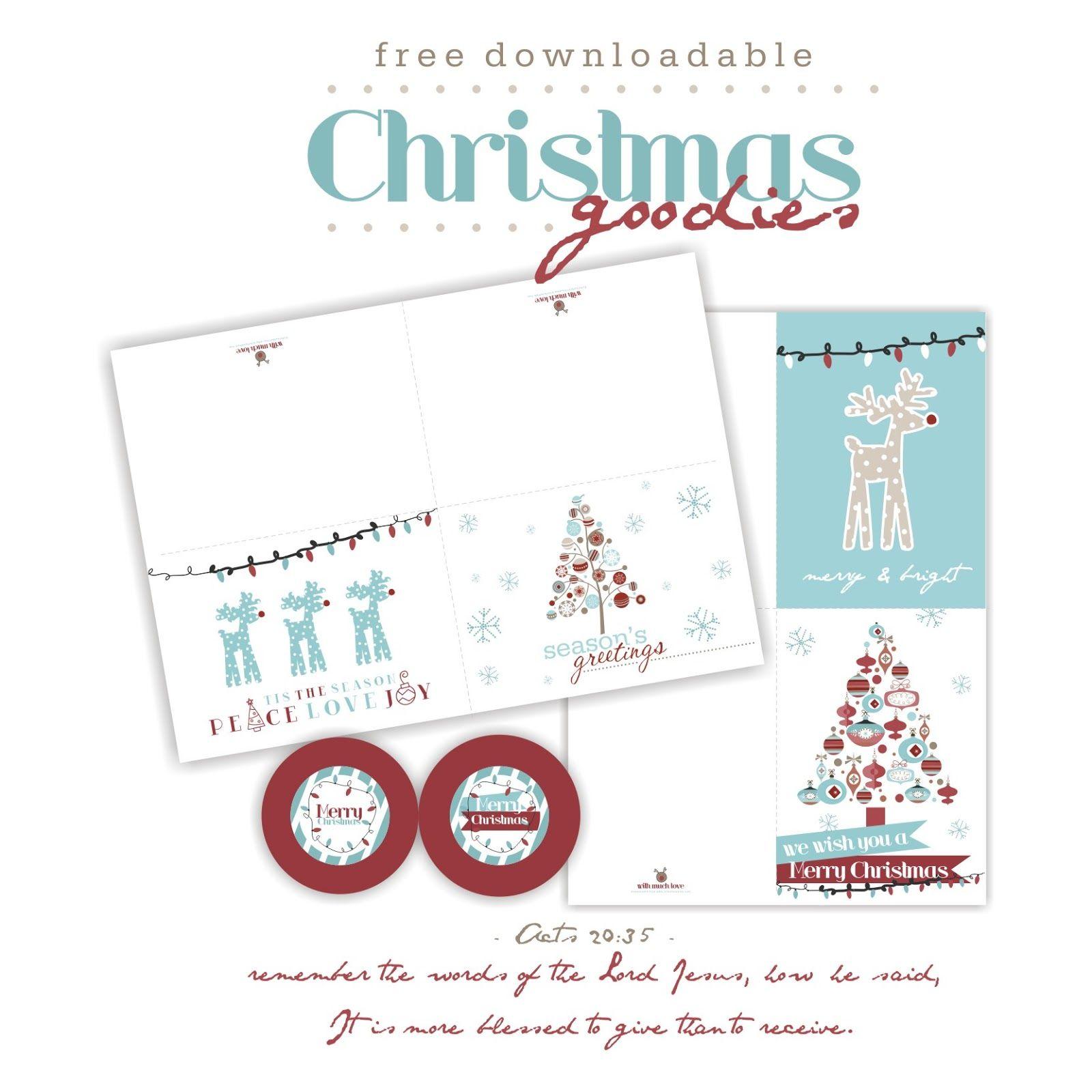 Free Christmas Card And Tag Printables Bits Of Sunshine