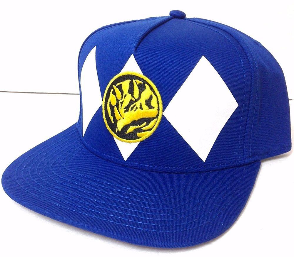 d2b31572e4b TRICERA BLUE RANGER POWER RANGER SNAPBACK HAT Mighty Morphin Flat-Bill  Men Women  Bioworld  BaseballCap