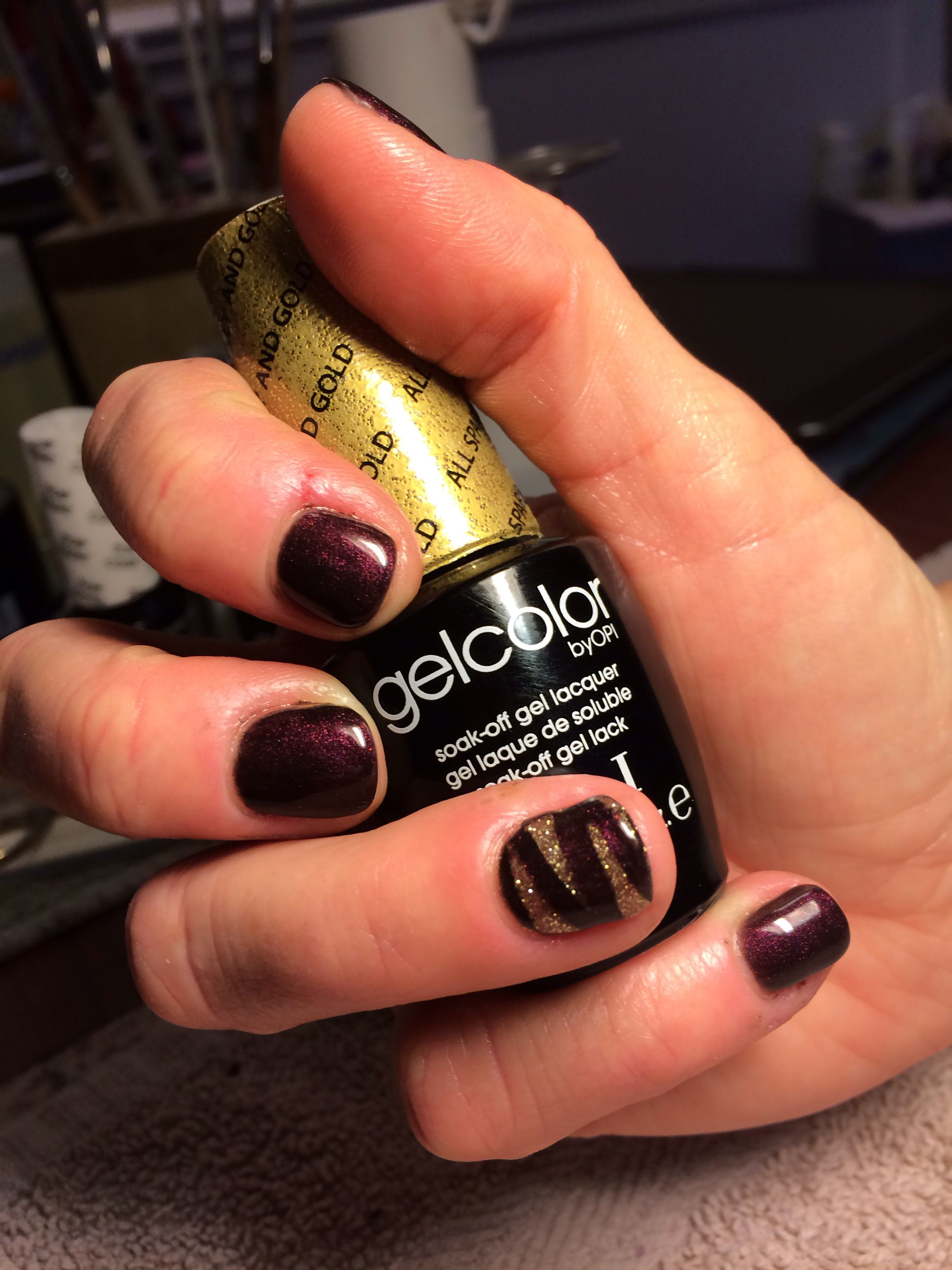 nail art fun with opi gelcolor in muir muir and all sparkly and