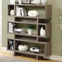 "Reclaimed Look Modern 55"" Standard Bookcase"